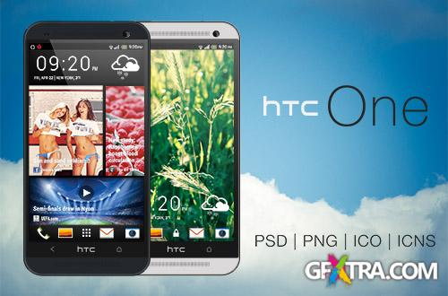 PSD Source - HTC One - PSD   PNG   ICO   ICNS