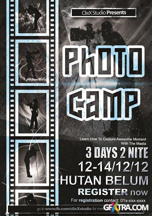 PSD Source - Photo Camp Flyer