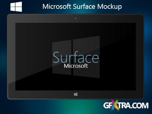 PSD Source - Microsoft Surface Mockup