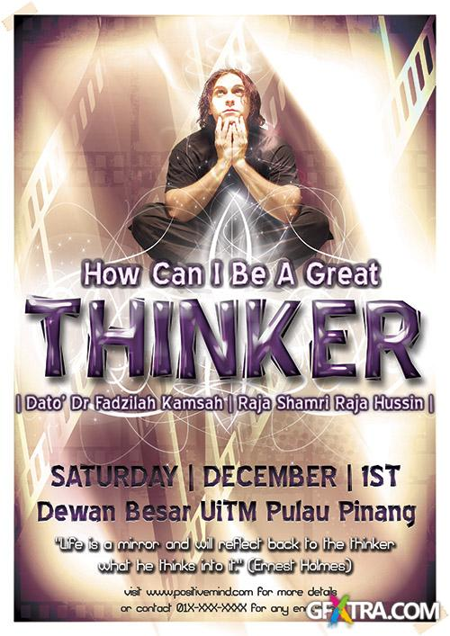 PSD Source - Thinker Flyer