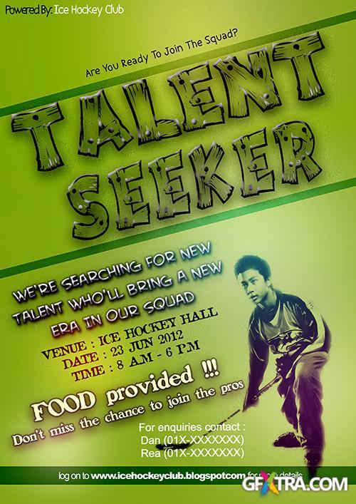 PSD Source - Talent Seeker Flyer