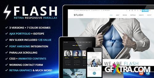 ThemeForest - Flash - Retina Ready Responsive Parallax Template - RIP
