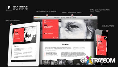ThemeForest - Exhibition - HTML Landing Page Art Gallery/ Muesum - RIP