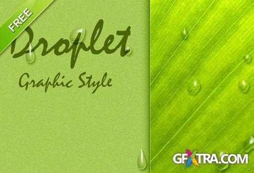 Designtnt - Droplet Photoshop Graphic Style