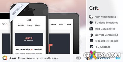 ThemeForest - Grit - Responsive E-mail Templates - RIP