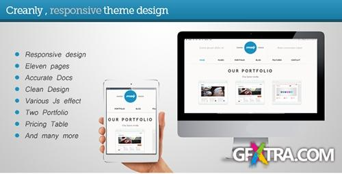 ThemeForest - Creanly - Responsive clean theme desig - RIP