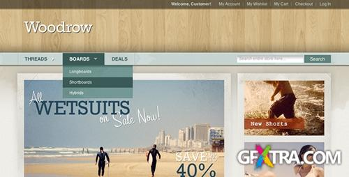 ThemeForest - Woodrow v1.1 - Customizable Magento Theme
