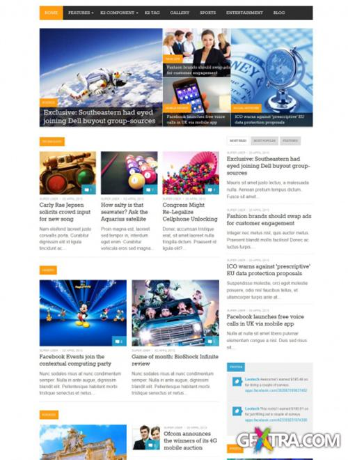 LeoTheme - Leo Tech Template For Joomla 3.0