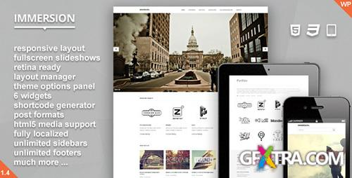 ThemeForest - Immersion v1.4 - Responsive Fullscreen WP Theme