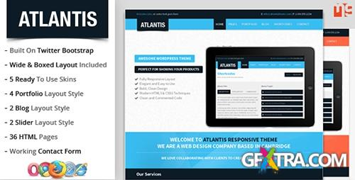 ThemeForest - Atlantis : Bootstrap Multipurpose Responsive Theme - RIP