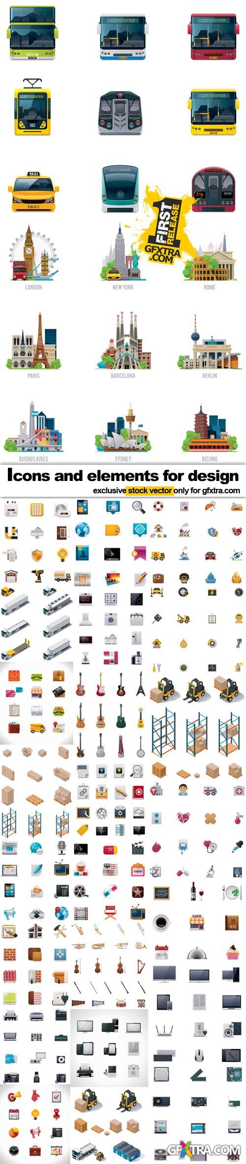 Icons and elements for design - 25x EPS Fotolia