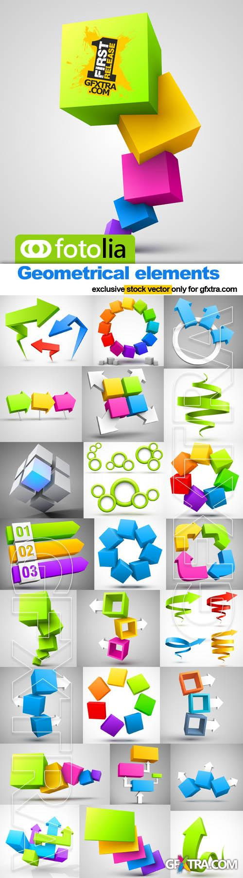 Geometrical elements for design - 25x EPS