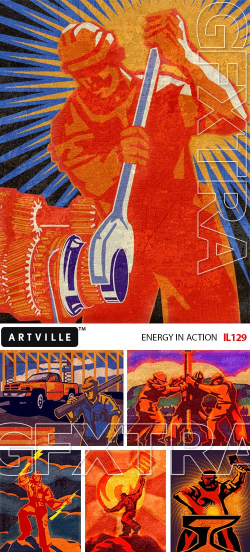 ArtVille Illustrations IL129 Energy in Action