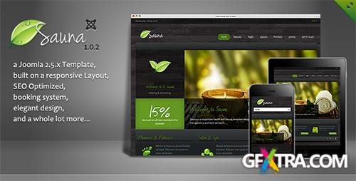 ThemeForest - Sauna v1.0.2 - Responsive Jooma 2.5 Template - FULL
