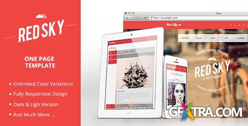ThemeForest - Red Sky One Page Template