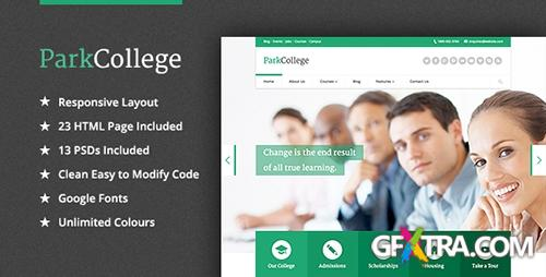 ThemeForest - ParkCollege - Education Responsive HTML Template - RIP
