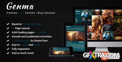 ThemeForest - Genma - Powerful animated AJAX template - RIP