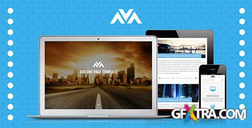 ThemeForest - Ava Responsive One Page Template - RIP