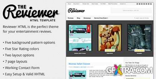 ThemeForest - Reviewer v1.2 - HTML Template for Entertainment Reviews
