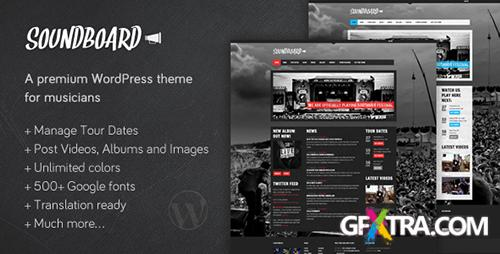 ThemeForest - Soundboard v3.0 - a Premium Music WordPress Theme