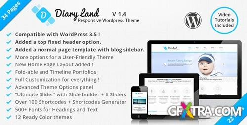 ThemeForest - DiaryLand v1.0 - Corporate Wordpress Responsive Theme - FULL
