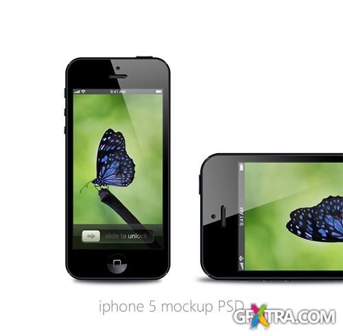 SmartPhone PSD Source - iPhone 5 Mockup