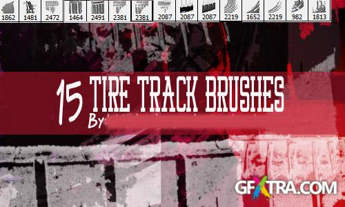 15 Pack Tire Tread Grunge Brushes