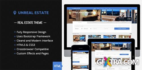 ThemeForest - Unreal Estate - Responsive Real Estate template - RIP