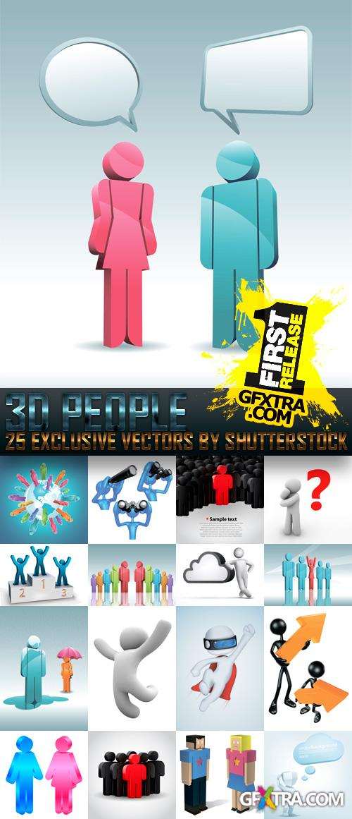 Amazing SS - 3D People, 25xEPS