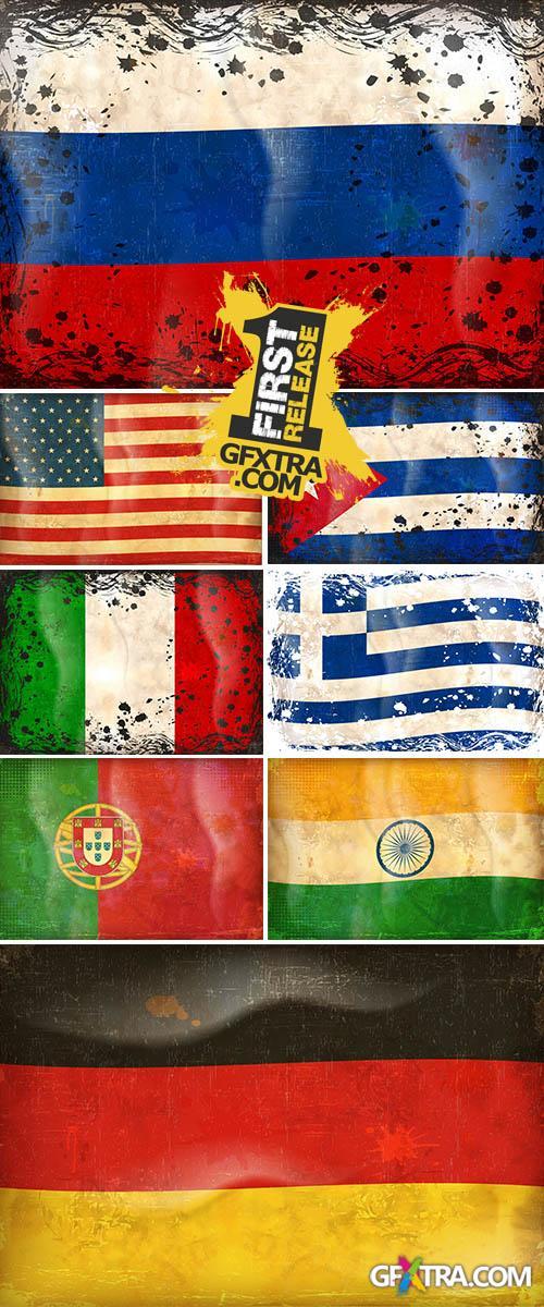 Stock: Grunge flag