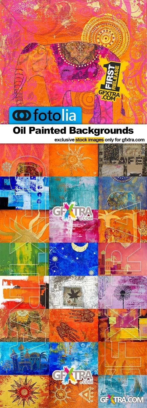 Oil Painted Backgrounds - 25x JPEGs