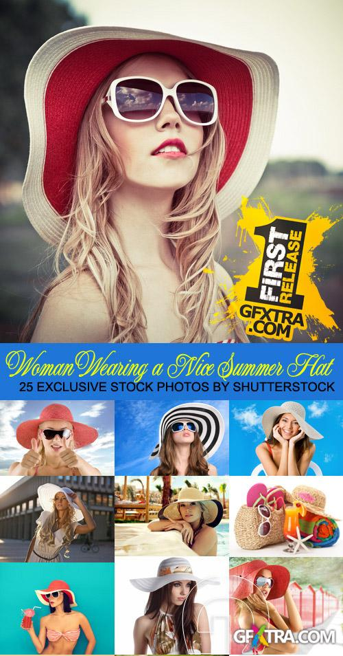Amazing SS - Woman Wearing a Nice Summer Hat, 25xGPGs