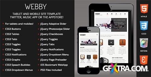 ThemeForest - Webby | Mobile & Tablet Responsive Template - RIP