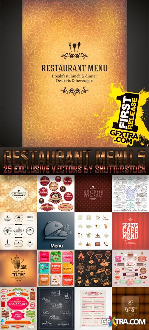 Amazing SS - Restaurant Menu 5, 25xEPS
