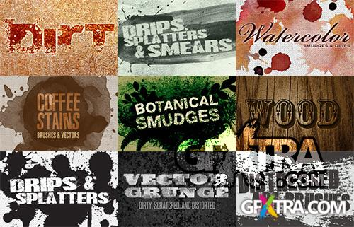 WeGraphics Vector Grunge & Splatters Pack