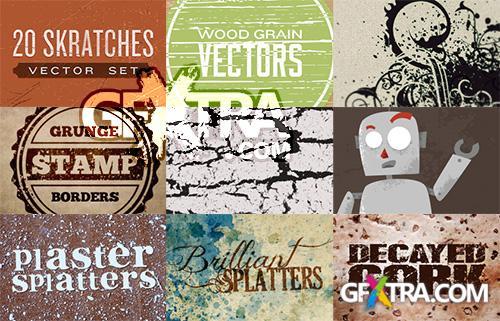 WeGraphics Vector Grunge & Splatters Pack
