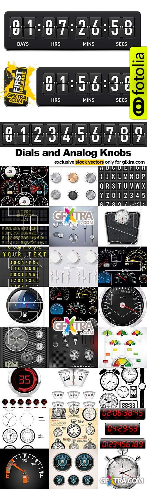 Dials and Analog Knobs - 25x EPS