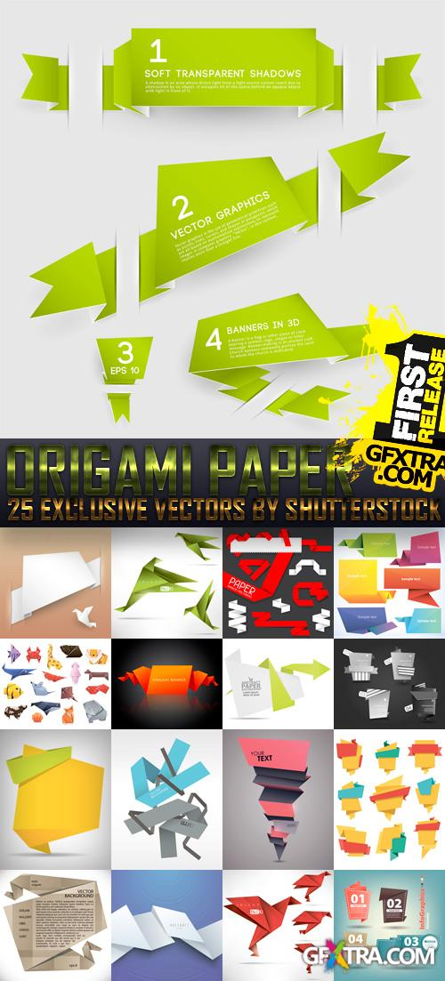 Amazing SS - Origami Paper, 25xEPS