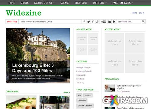 ColorVila - WideZine v1.0 - Theme For WordPress