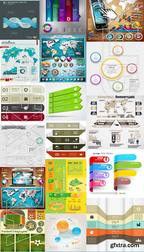 Infographic and design elements #9 - 25x EPS