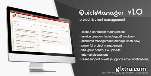 CodeCanyon - quickmanager v1.0.4 - project & client manager