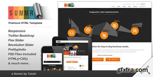 ThemeForest - Summr Responsive Business HTML Template - RIP