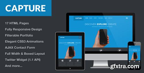 ThemeForest - Capture - Responsive Bootstrap HTML Theme - RIP