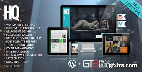 ThemeForest - HQ Photography v1.0.864 - Responsive WP Theme