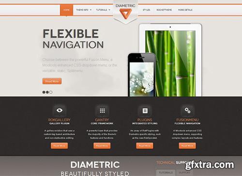 RocketTheme - RT Diametric v1.0 - Wordpress 3.x Template