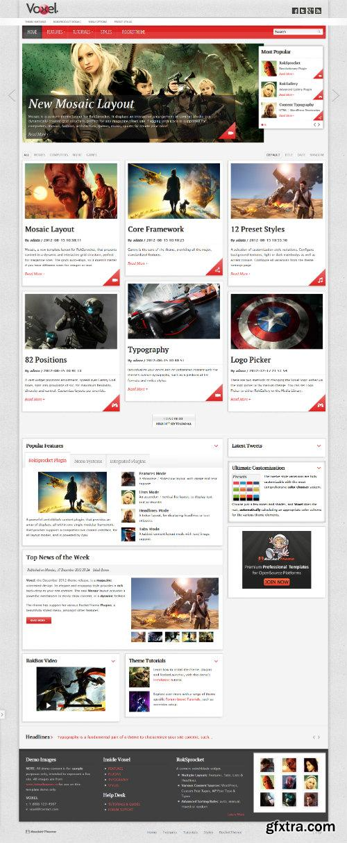 RocketTheme - RT Voxel v1.0 - Wordpress 3.x Template