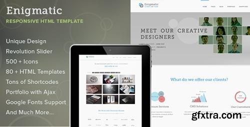 ThemeForest - Enigmatic - Responsive Multipurpose HTML Template - RIP