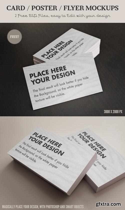 Card-Flyer Mock-Ups