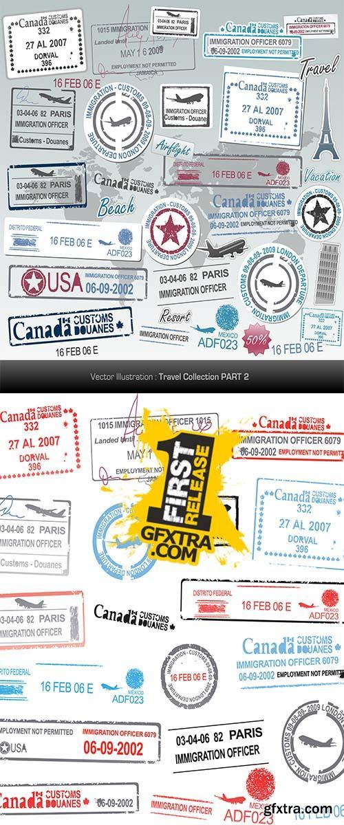 Stock: Set of vector passport stamps