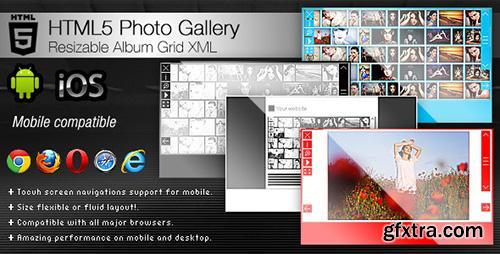 CodeCanyon - HTML5 Photo Gallery - Resizable Album Grid XML